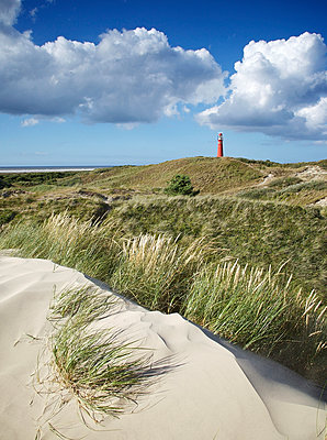 Lighthouse on an Frisian island - p606m890796 by Iris Friedrich