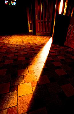 Open door into church - p4421086f by Design Pics