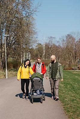 Family at walk - p312m2139289 by Amanda Falkman