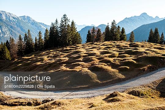 Deserted road, Karwendel mountain range - p1600m2229828 by Ole Spata
