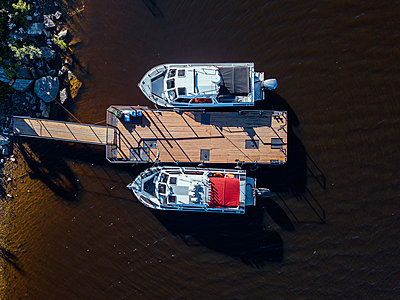 Russia, Two motorboats - p1108m2210627 by trubavin