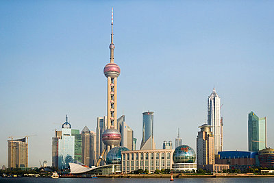 Oriental pearl tower shanghai - p9246130f by Image Source