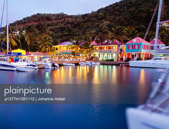 Tortola Island, West End, Soper's Hole Wharf, Pusser's landing - p1377m1261112 by Johanna Huber