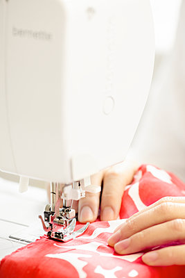 Woman sewing, close-up - p312m1070432f by Michael Jonsson