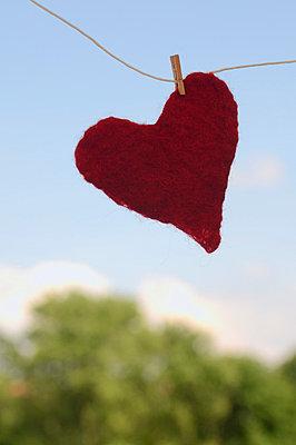 Wet heart - p4700183 by Ingrid Michel