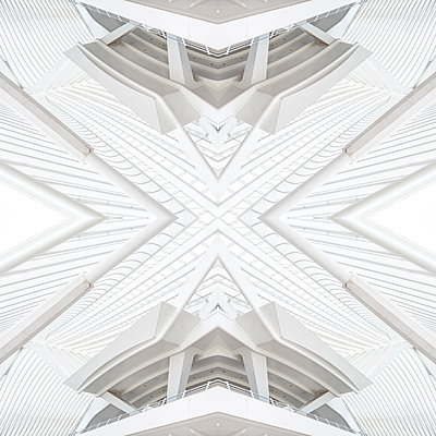 Abstract kaleidoscope pattern Liège-Guillemins station in Liège - p401m2209301 by Frank Baquet