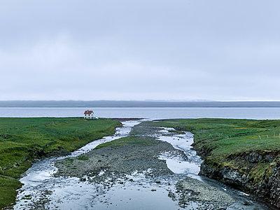Einsames Haus am Meer - p362m1541409 von André Wagner