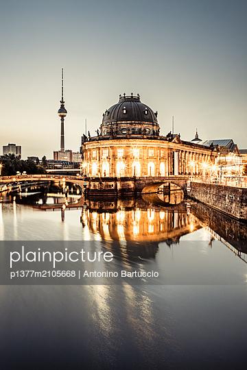 Germany, Berlin, Berlin Mitte, Spree, Museum island, Bode Museum - p1377m2105668 by Antonino Bartuccio