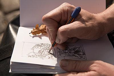 Urban Sketcher - Zeichner - p1222m1104796 von Jérome Gerull