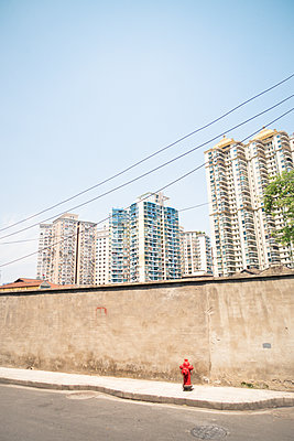 Apartment buildings in Shanghai - p795m1161280 by Janklein