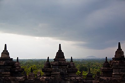 Borobudur Temple in Magelang, Central Java, Indonesia - p934m1022311 by Dominic Blewett