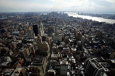Aerial view of Manhattan - p3882058 by L.B.Jeffries