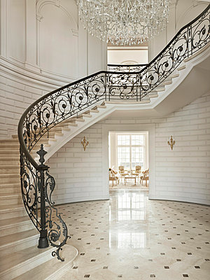 Luxury Living - Entrance Hall II - p390m741265 by Frank Herfort