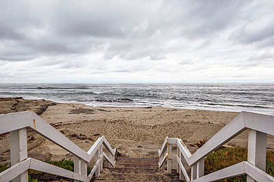 Coastal scene from stairs above Windansea Beach. La Jolla, CA, USA. - p1436m2151539 by Joseph S. Giacalone