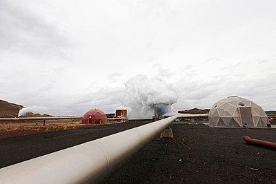 Geothermal Power Station, Krafla, Iceland - p1026m992113f by Sveinn Baldvinsson