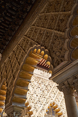 Architecture of the Alhambra in Spain - p1146m2150542 by Stephanie Uhlenbrock