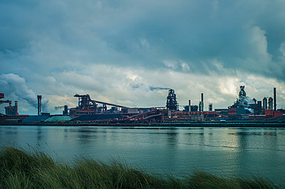 industrial harbor of Dunkirk  - p1660m2254314 by ofoulon