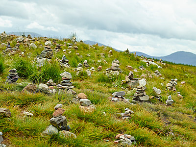 Stacked pebbles, Scottish Highlands - p913m2172604 by LPF
