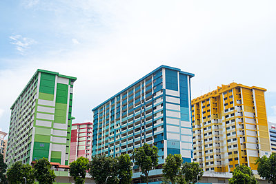 Colored blocks of flats - p795m1461515 by Janklein