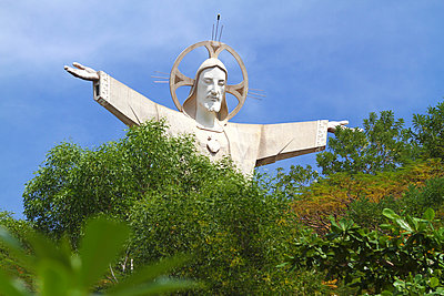 Christ the King is a statue of Jesus - p1108m885819 by trubavin