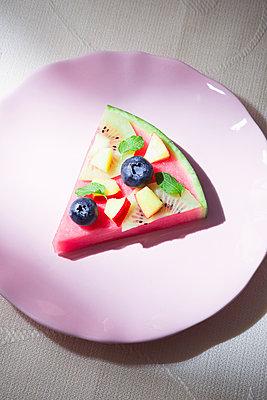 Melon pie - p1149m2089578 by Yvonne Röder