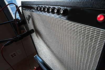 Amplifier in Recording Studio - p694m1157483 by Novo Images