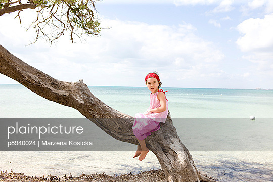 Girl on the beach - p8940024 by Marzena Kosicka