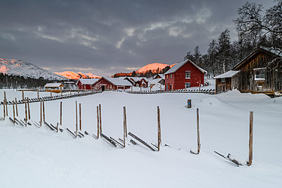 Farm buildings at winter - p312m1471657 by Mikael Svensson