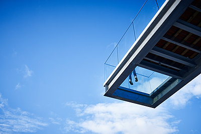 Viewing platform with glass floor - p851m1528931 by Lohfink