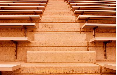 Closeup of stadium benches - p4420718f by Design Pics