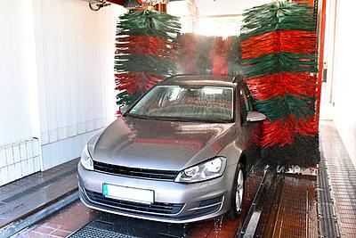Car in a car wash - p300m1047781f by lyzs