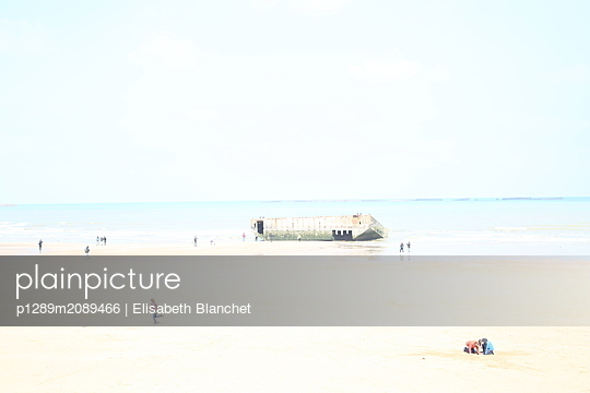 Bunker at the beach - p1289m2089466 by Elisabeth Blanchet