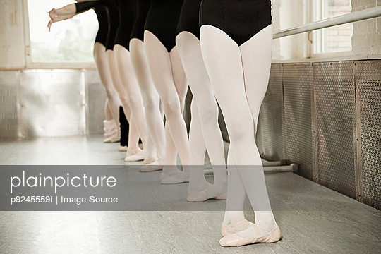 Legs of ballerinas - p9245559f by Image Source