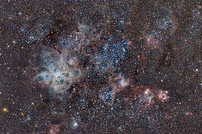 Namibia, Region Khomas, near Uhlenhorst, Astrophoto of emission nebula NGC 2070 or Tarantula Nebula in the Large Magellanic Cloud with a telescope - p300m1505488 by Thomas Grohmann