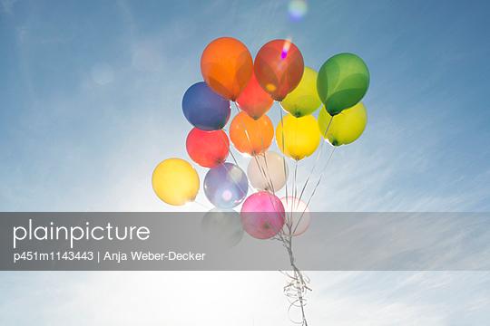 Helium balloon - p451m1143443 by Anja Weber-Decker