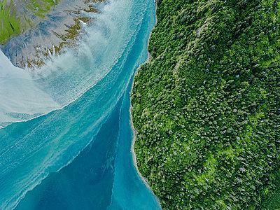 Alaska, Areal eines Gletscherflusses  - p1455m2204774 von Ingmar Wein