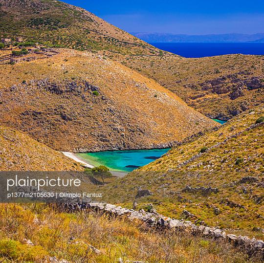 Greece, Peloponnese, Mediterranean sea, Paliros Beach near Porto Kagio village - p1377m2105630 by Olimpio Fantuz