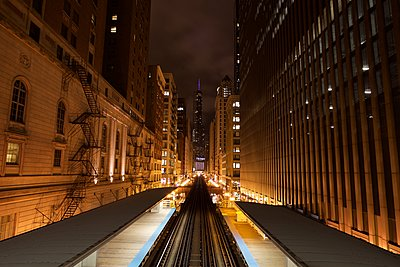 Subway station in Chicago - p1399m1442185 by Daniel Hischer