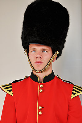 British serviceman with fur cap - p096m1474945 by Helga Lorbeer