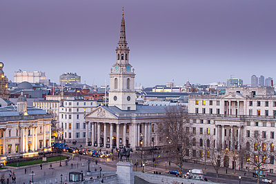St. Martin in the Fields,Trafalgar Square, London, England, United Kingdom, Europe - p871m1082297 by Neil Emmerson