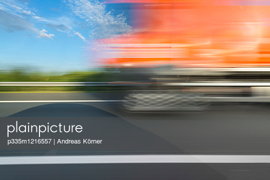 Motorway driving - p335m1216557 by Andreas Körner