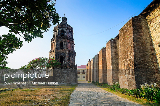 The church of Santa Maria, UNESCO World Heritage Site, Ilocos Norte, Northern Luzon, Philippines, Southeast Asia, Asia - p871m947445 by Michael Runkel