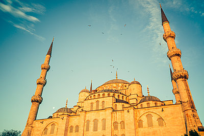 "Turkey, Istanbul, Sultan Ahmed Mosque, ""Blue mosque"" - p1085m2203565 by David Carreno Hansen"