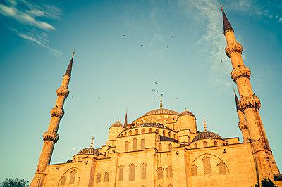 """Türkei, Istanbul, Sultan Ahmed Moschee """"Blaue Moschee"""" - p1085m2203565 von David Carreno Hansen"""