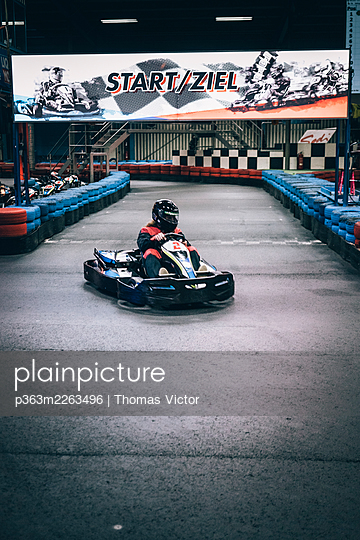 Indoor go-kart track - p363m2263496 by Thomas Victor