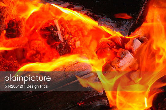 A fire - p4420542f by Design Pics