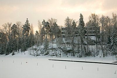 Landscape with snow and trees - p3881283 by Johannes Romppanen