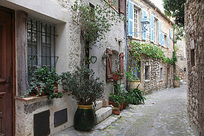 medieval village - p871m674430 by Wendy Connett