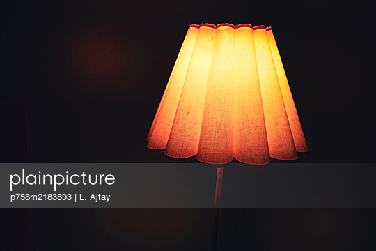 Bedside lamp, vintage lamp shade - p758m2183893 by L. Ajtay