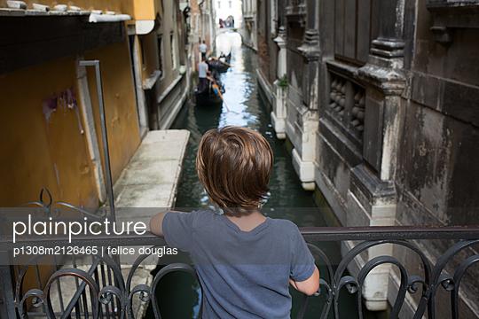 Kid in Venice - p1308m2126465 by felice douglas